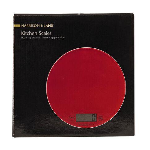 Harrison & Lane Kitchen Scale Digital Red