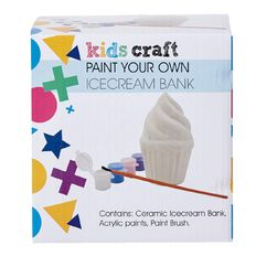 Kids' Art & Craft Paint Your Own Ice Cream Bank