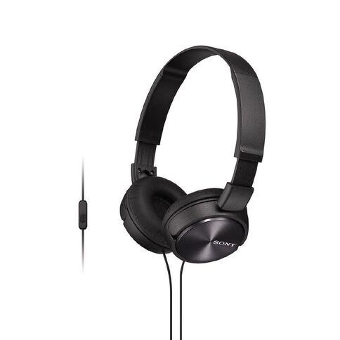 Sony Headphones with Mic MDR-ZX310APB Black