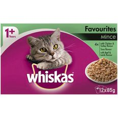 Whiskas Favourites Mince Pouch 12 Pack