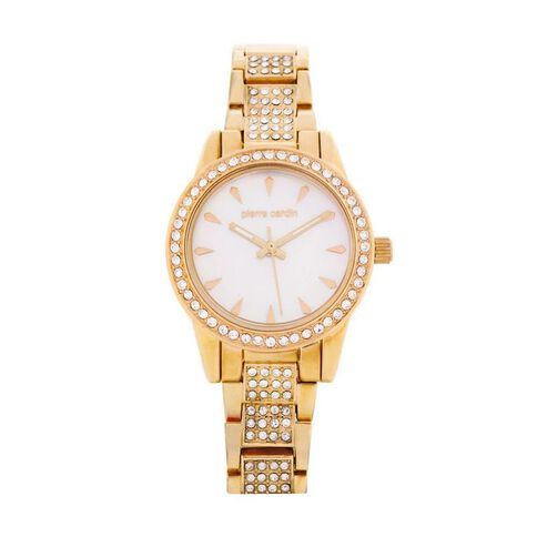 Pierre Cardin Ladies' 2 Tone Silver and Gold Crystal Set Watch