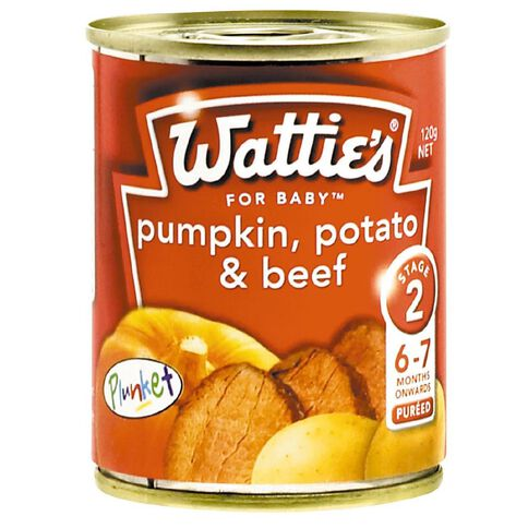 Wattie's Pumpkin Potato and Beef Can 120g