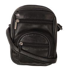 Debut Patch Leather 2 Pocket Handbag