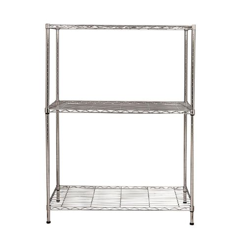 Living & Co Heavy Duty Chrome Racking 3 Tier