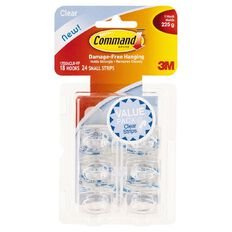 Command Clear Mini Hooks with Clear Strips Value Pack