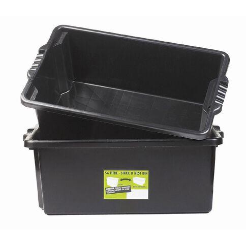 Fish Bin 54L 2 Pack Black