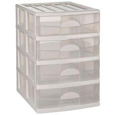 Taurus Mini Storage Drawers 4 Tier Assorted
