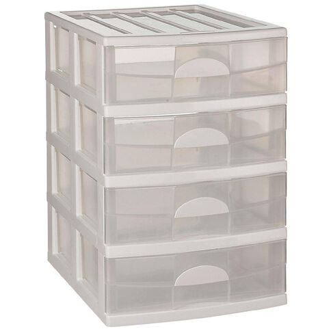 Taurus Mini Storage Drawers 4 Tier Assorted