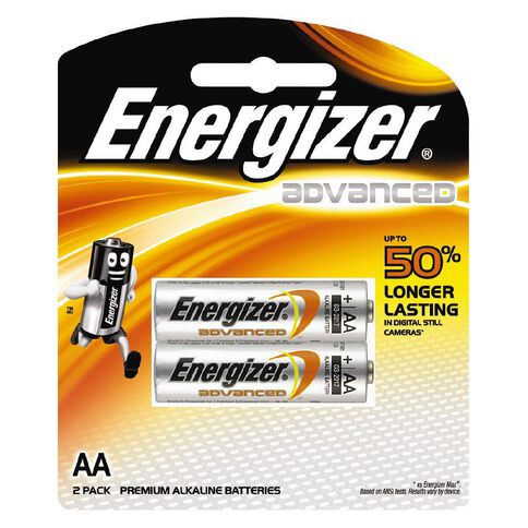 Energizer Advanced Battery AA 2 Pack