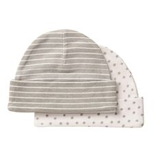 Hippo + Friends Baby Infants' Unisex Beanies 2 Pack