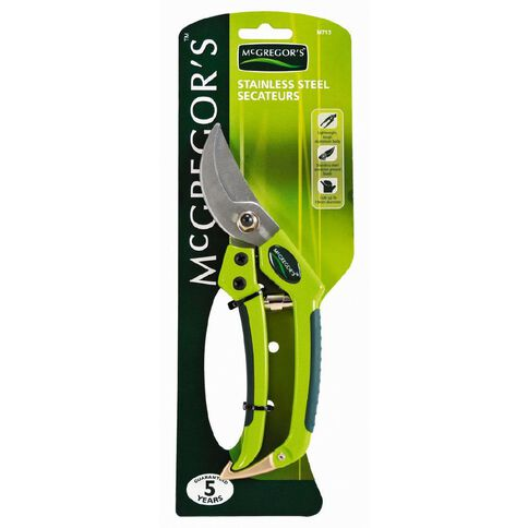 McGregor's Stainless Steel Secateurs with Alloy Handles