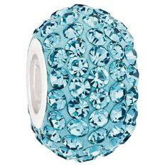 Ane Si Dora Sterling Silver Aqua Crystal Charm