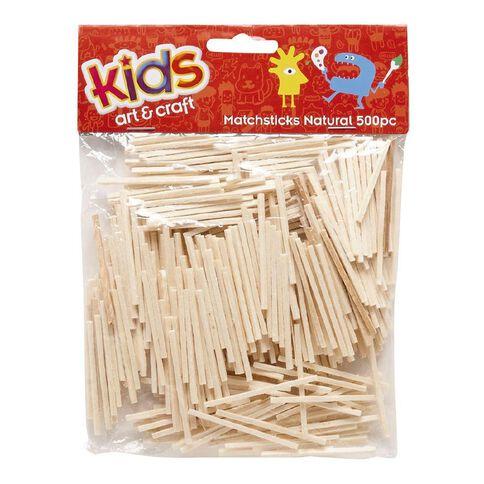 Kids' Art & Craft Natural Matchsticks 500 Piece