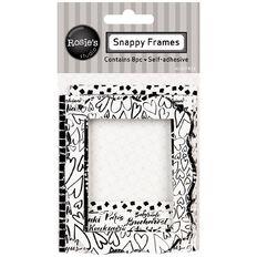 Rosie's Studio Snappy Frames Black & White 8 Pack