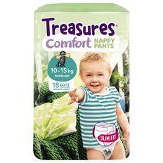 Treasures Standard Slimfit Toddler Nappy Pants 18 Pack