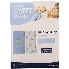 Mother's Choice Road Trip Bunny Rug 2 Pack