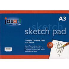 Jasart Sketch Pad Spiral A3 20 Sheets