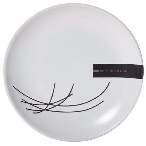Harrison & Lane Fresco Milan Side Plate White with Black Lines