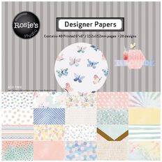 Rosie's Studio Pink Lemonade Designer Papers Pad 6in x 6in 40 Sheet