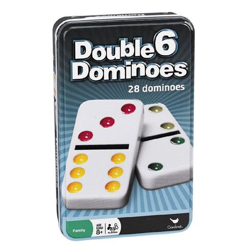 Double Dominoes Game 6 Pack in a Tin