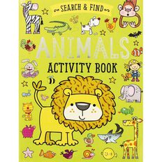 Search and Find Animals Activity Book