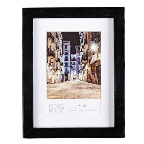 Design House Frame Vue Black 10cm x 15cm (4in x 6in)