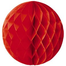 Party Inc Honeycomb Lantern Red