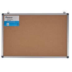 Deskwise Aluminium Cork Board 500mm x 750mm