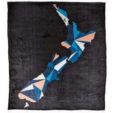 Elemis Blanket Flannel Tartan Blue/White Queen