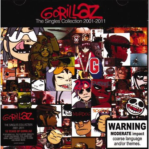 The Singles Collection CD by Gorillaz 1Disc