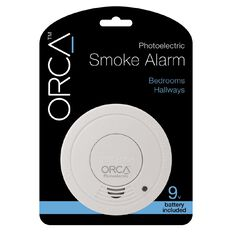 Orca Photoelectric Bedroom/Hallway Smoke Alarm with Hush