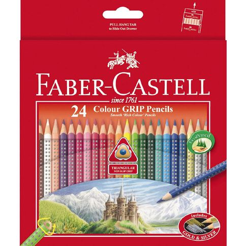 Faber-Castell Coloured Pencils Grip Full Packet 24 Pack