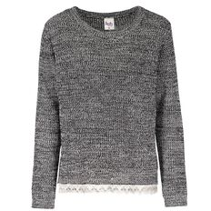 A'nD Lace Hem Jumper