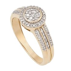 1/4 Carat of Diamonds 9ct Gold Fancy Art Deco Ring