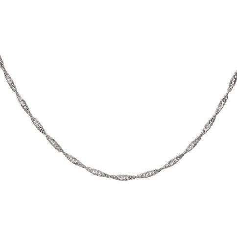 Sterling Silver 40 Gauge Twist Chain 45cm