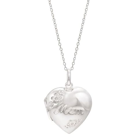 Sterling Silver Mum Locket Pendant