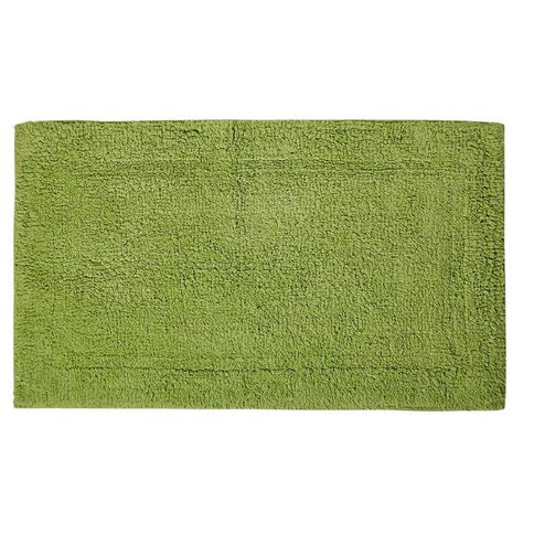 Necessities Brand Bath Mat Green 45cm x 75cm