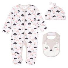 Hippo + Friends Baby Girl Set 3 Piece