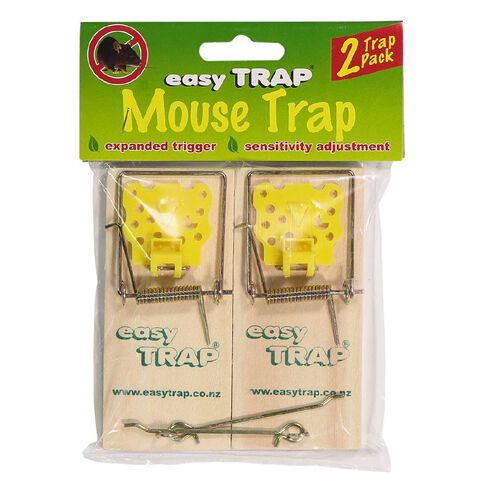 Easy Trap Catcha Wooden Mouse Trap 2 Pack