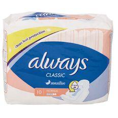 Always Classic Sensitive 10 Pack