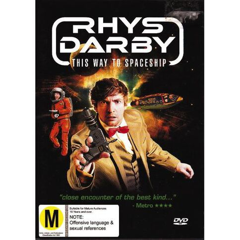 Rhys Darby This Way To Spaceship DVD 1Disc