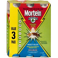 Mortein Control Bomb Naturgard 125g 3 Pack