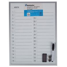 Deskwise Magnetic Dry Erase Schedule Board 300mm x 400mm