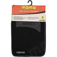 Momo Car Mat Carpet 2 Piece Black/Grey