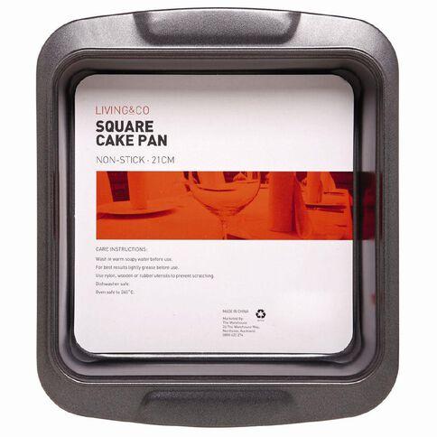 Living & Co Heavy Gauge Square Pan 26.8 x 23 x 5cm