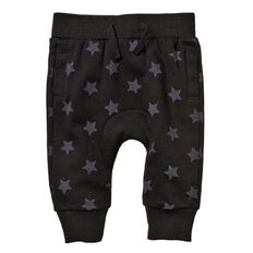 Hippo + Friends Baby Boy Star Gusset Trackpants
