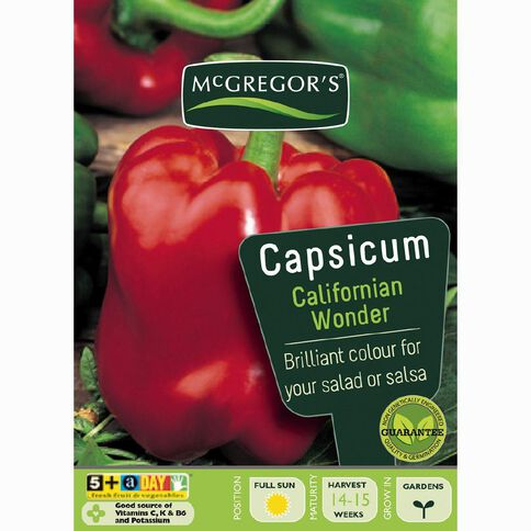 McGregor's California Wonder Capsicum Vegetable Seeds