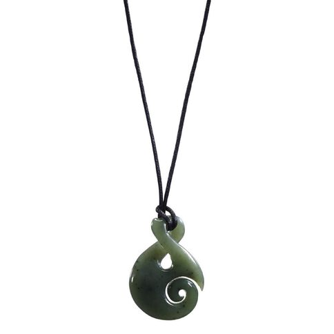 Pendant Jade Twist and Koru