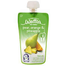 Wattie's Pear Orange and Pineapple Pouch 120g