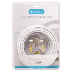 Tech.Inc TV Aerial Expansion Pack with 2-Way Splitter Adapters Cable 10m